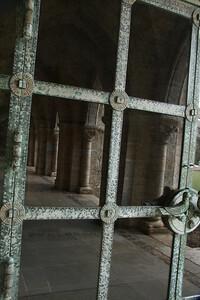 reflection in door's glass