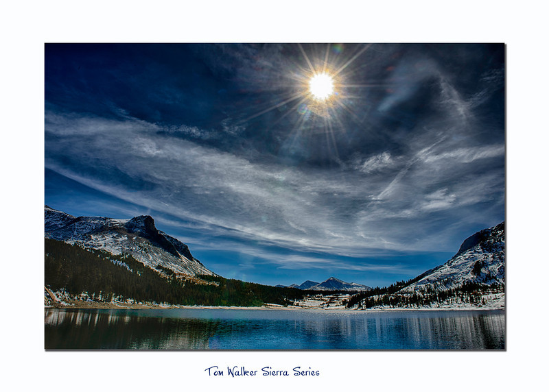 Tioga Lake at the Tioga Pass in late October. Three bracket series HDR image using NIK HDR Effex Pro 2.  - Tom Walker Photography