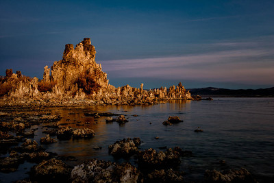 Mono Lake Tufa's at Sunrise.  The sunrise reflecting off of the Pirate Ship Tufa._DSC2666  - Tom Walker Photography