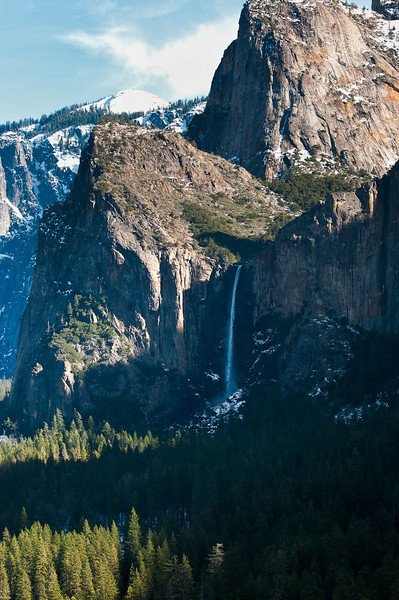 Bridalveil Falls 70-200mm f2.8 ISO 200  It was a treat to see this much water flowing from this waterfall.