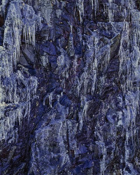 Iced Blue Rock Wall