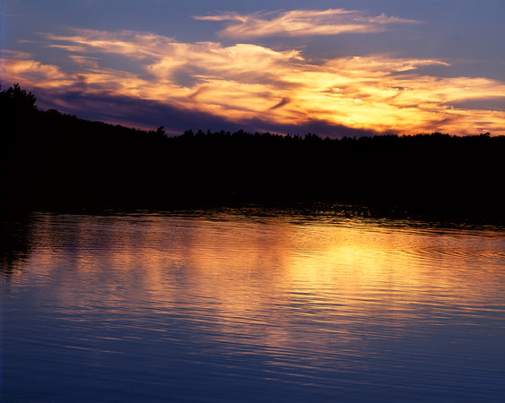 Sunset At Walden Pond II