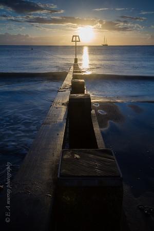 Groyne in the sunrise