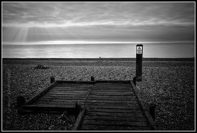 Sunrise and shore