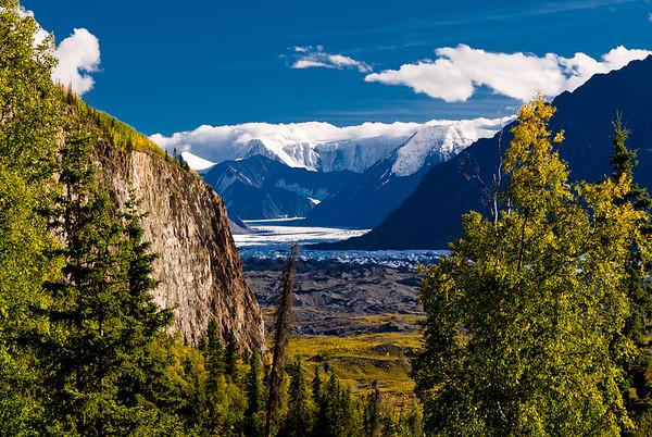 A peel at the Matanuska Glacier