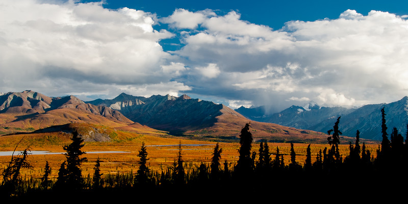 View from the Glenn Highway in late fall.