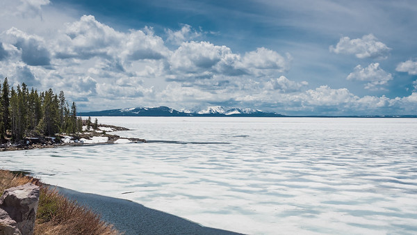 Yellowstone Lake, during the spring thaw in mid-May...  Yellowstone National Park