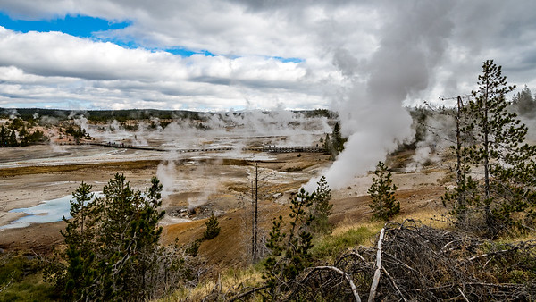 Steaming, belching, hot Caldera...Yellowstone National Park