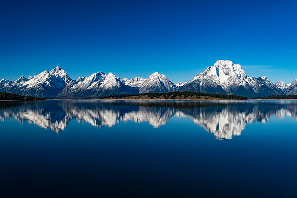The Teton Mountain Range viewed from the Jackson Lake Dam... Grand Teton National Park