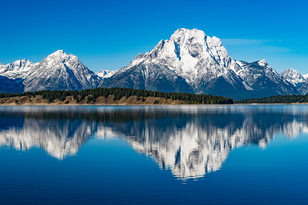 Mt. Moran viewed from the Jackson Lake Dam... Grand Teton National Park