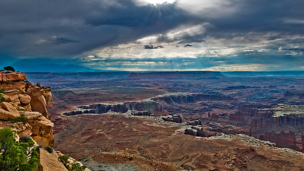Early morning from Grandview Point, Canyonlands National Park, Utah.