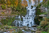 Chittenango Falls waterfalls with fall foliage • Chittenango, NY • 2015