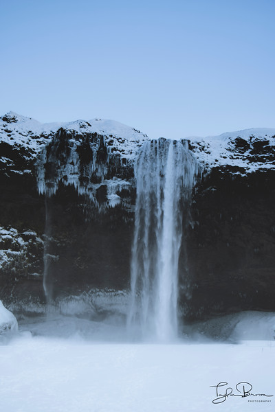 ICY WATERFALL, ICELAND 2016
