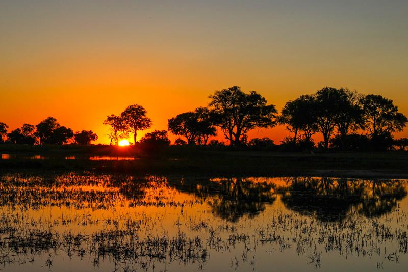 Botswana Africa Sunset