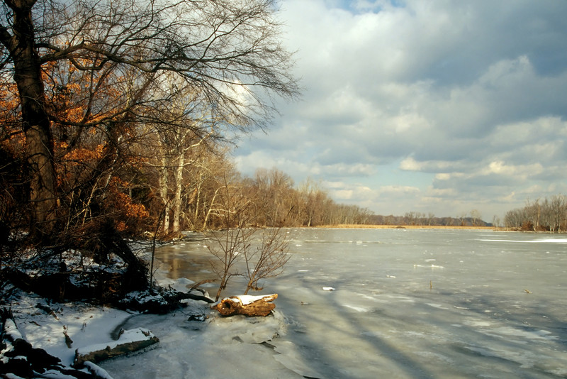 THE FROZEN POTOMAC RIVER