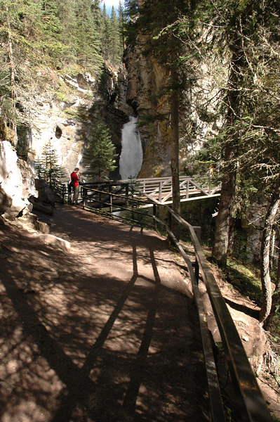 Johnston Canyon trail near Lower Falls<br /> Alberta