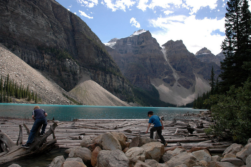Moraine Lake log jam<br /> Alberta