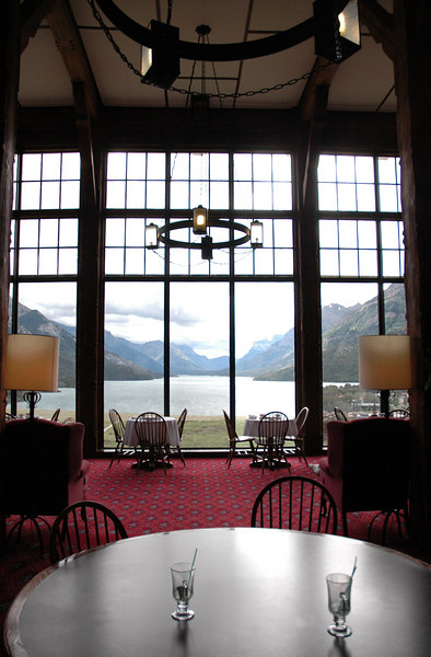 Prince of Wales Hotel, overlooking Waterton Valley
