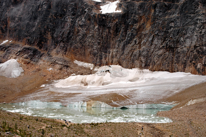 Cavell Glacier & Pond, Mount Edith Cavell<br /> Jasper National Park