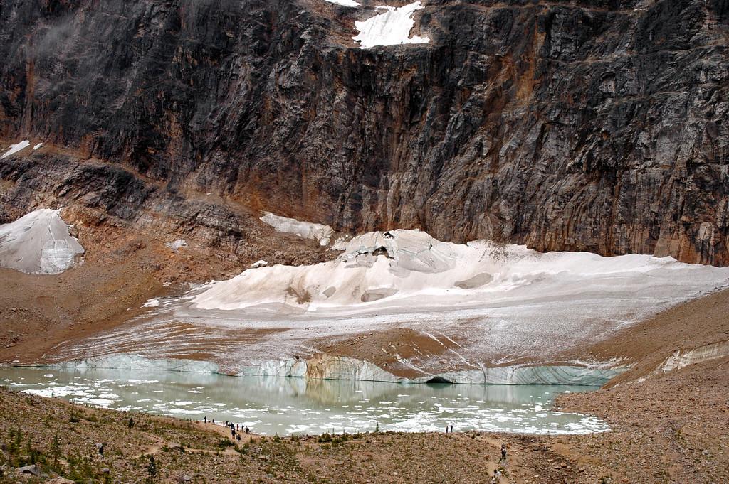 Cavell Glacier & Pond, Mount Edith Cavell<br /> Jasper National Park