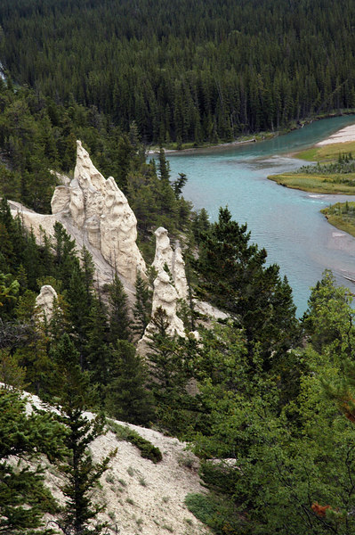 hoodoos along the Bow River<br /> Banff National Park