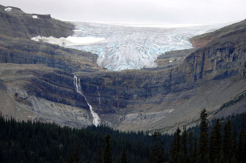 Bow Glacier & Bow Falls<br /> Icefields Parkway, Alberta