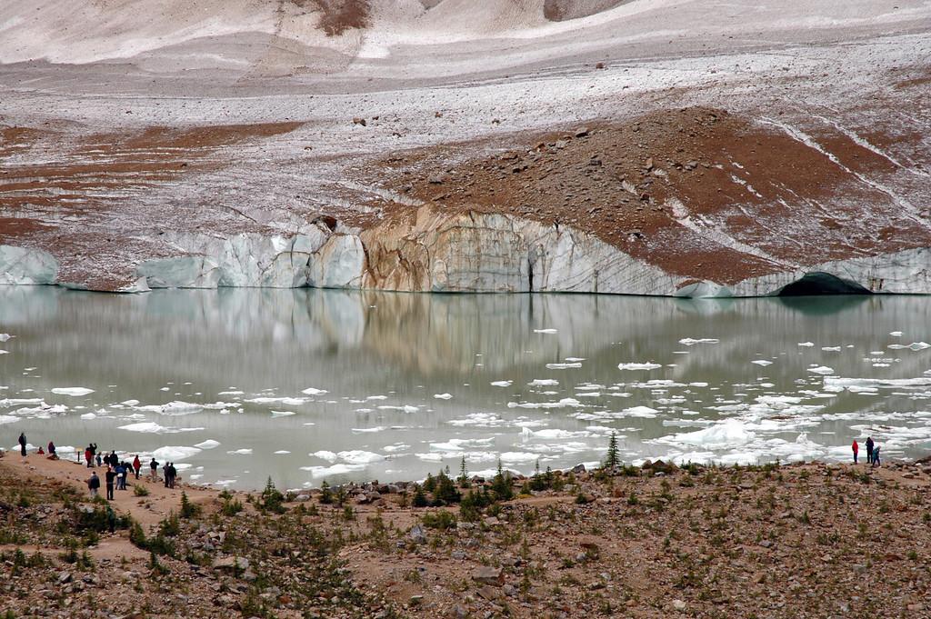 Cavell Pond & Glacier<br /> Jasper National Park