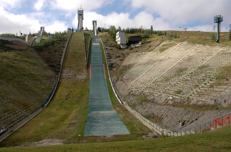 Canada Olympic Park ski jump tower from 1988 Winter Olympics<br /> Calgary