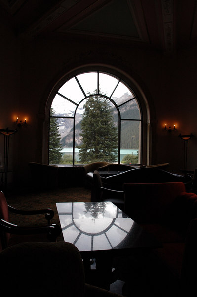 Chateau Lake Louise lounge<br /> Banff National Park