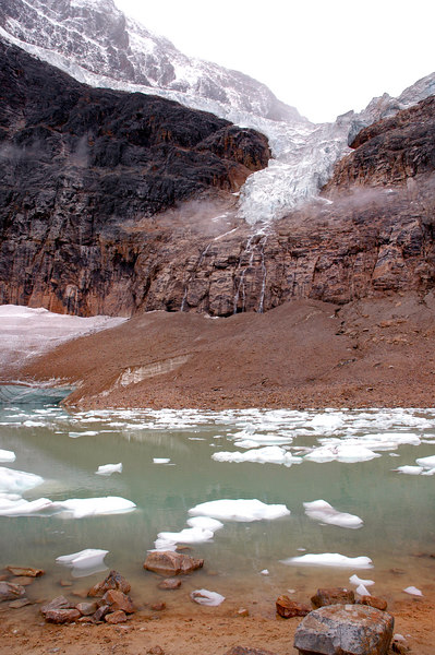 Angel Glacier above Edith Cavell Pond<br /> Jasper National Park