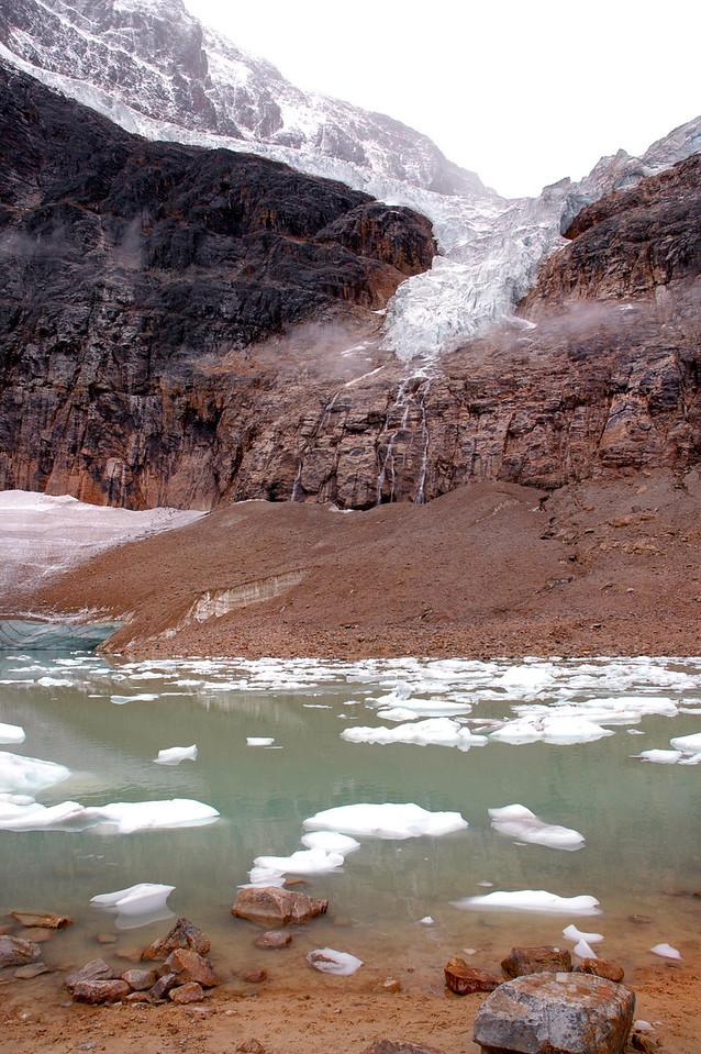 Angel Glacier above Edith Cavell Pond<br /> Jasper National Park
