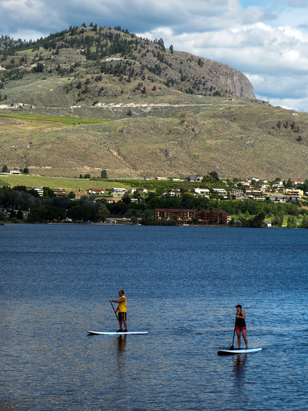 paddleboarders on Lake Osoyoos, BC