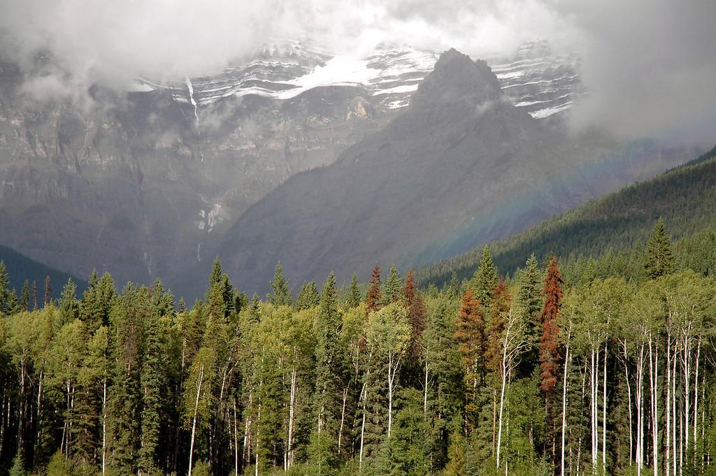 rainbow & Mt. Robson, British Columbia
