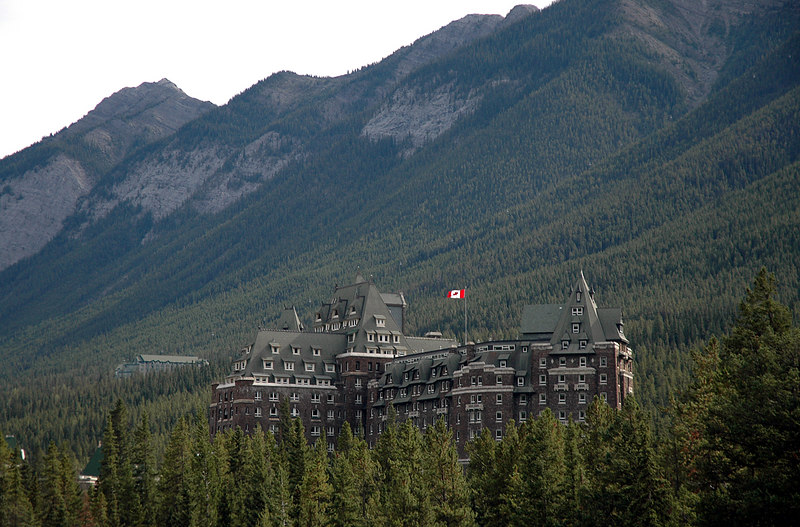 Banff Springs Hotel & Sulphur Mountain gondola cars