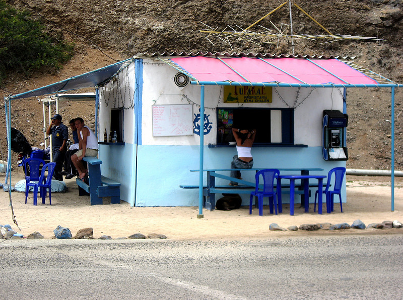 seaside snack stand-Baltra Island, Galapagos 12-15-2007