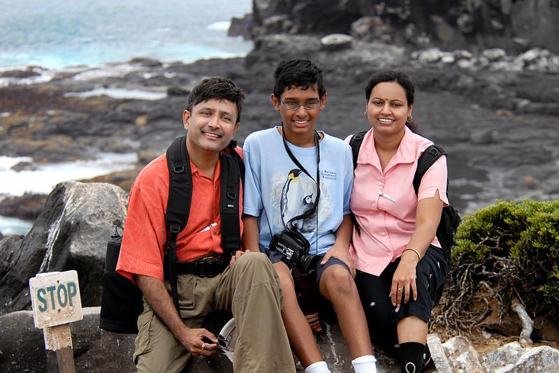 Ashwini, Jr  Super P , and Prema Anand-Espanola Island, Galapagos 12-16-2007