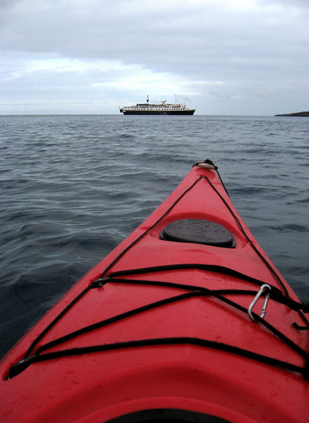 kayaking back to the M S  Polaris from espanola island-Galapagos 12-16-2007