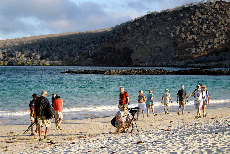 Matt videotaping on Floreana Island-Galapagos 12-17-2007