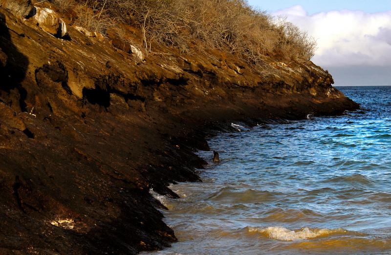Floreana Island sloping into the sea-Galapagos 12-17-2007