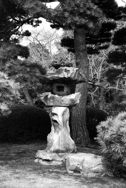 Shinjuku Imperial Garden sculpture - Tokyo 1998 Feb