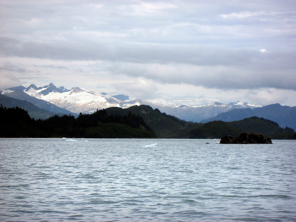 retreating glacier above Passage Canal, Prince William Sound, AK 8-30-2007