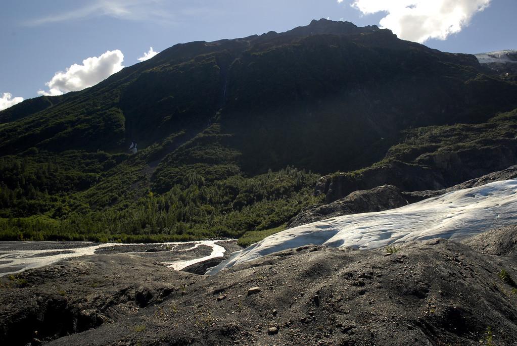 ice tongues of Exit Glacier, Alaska 8-31-2007