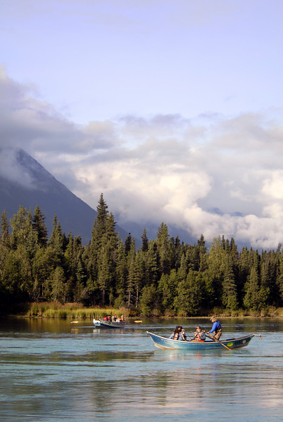 fishing canoes on Kenai River-Cooper Landing, AK 9-2-2007