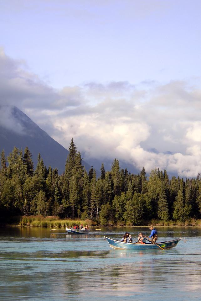 fishing canoes on Kenai River-Cooper Landing, AK 9-2-2007