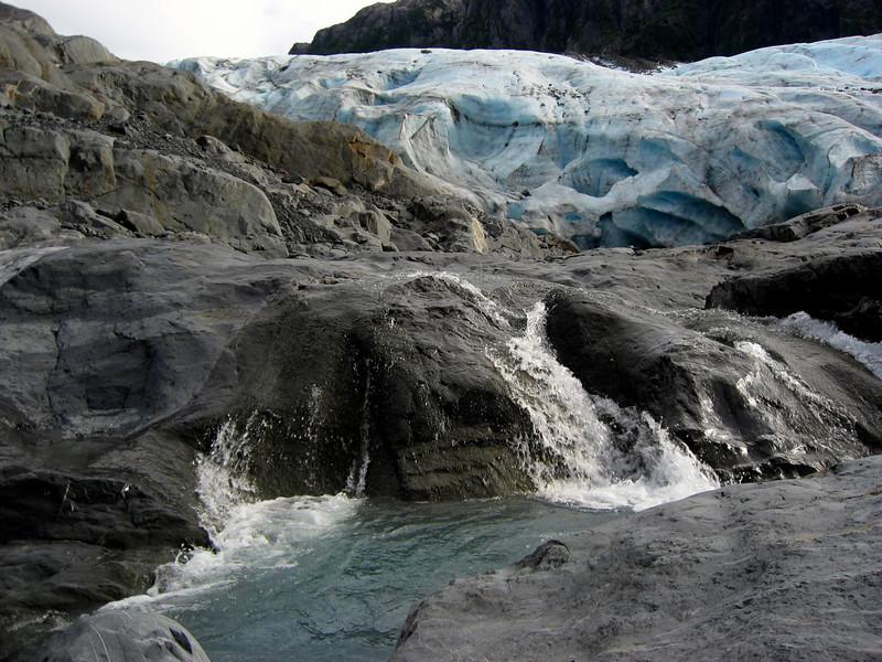cascading Lawrence Glacier above Prince William Sound, AK 8-30-2007