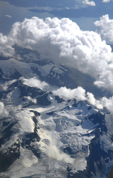 aerial glacier view from plane-Alaska 9-2-2007