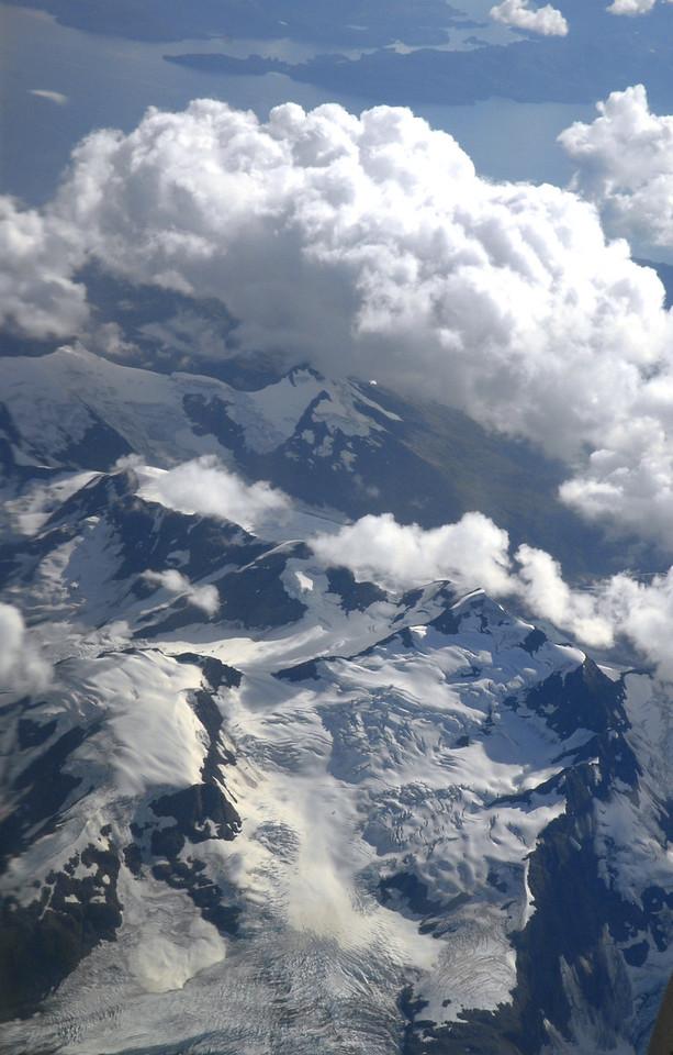 aerial glacier view from plane-Alaska 9-2-2007