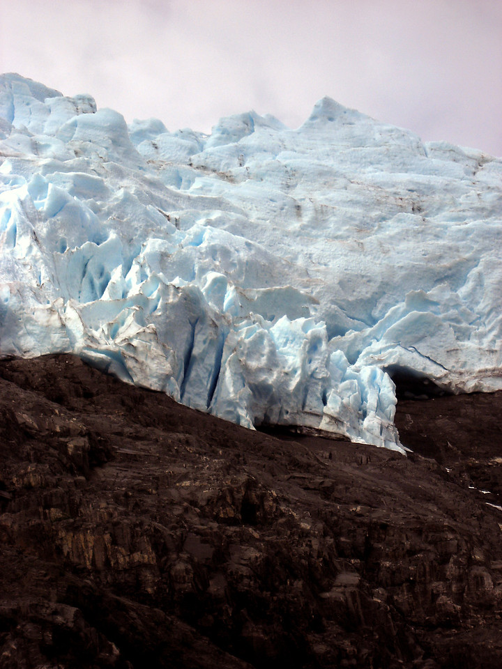 glacier close-up, Blackstone Bay, Prince William Sound, AK 8-30-2007