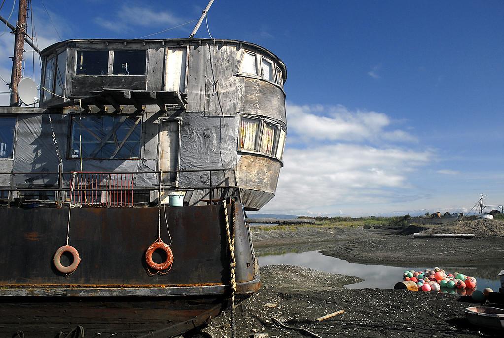 Barge On Inn-Homer Spit, Alaska 9-1-2007