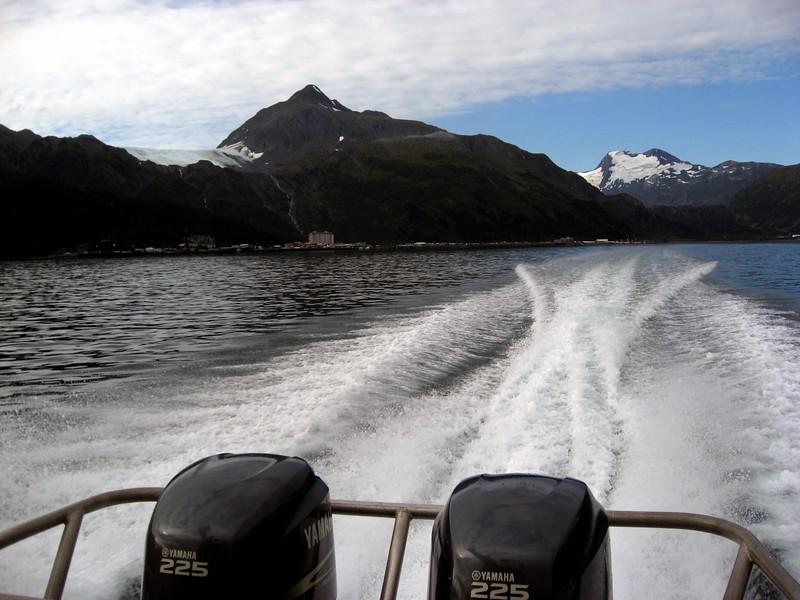 Prince William Sound in Malcolm's wake-Honey Charters, Alaska 8-30-2007